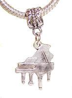 Grand Piano Music Musical Instrument Dangle Charm for European Bead Bracelets