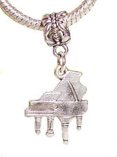 Grand Piano Music Musical Instrument Dangle Charm for European Bead Bracelets