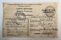 Lot of 2 - 1917 & 46 WW1, 2 Prisoner of War postcard - c-681