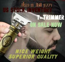 T-Trimmer Hair Clippers PRO Barber Powerful ALL Metal Copper Gold  Out Liner