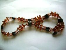 Long Magnetic Hematite Bead Fancy String Wrap Bracelet Choker Necklace Anklet UK
