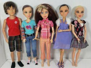 Liv Fashion Dolls Lot Of 5 By Spin Master With Wigs 2009, fashion doll, boy doll
