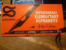 Speedball Elementary Alphabet Book - C 1940 - Free Shipping in Continental Usa