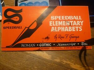 Speedball Elementary Alphabet Book - C 1940 - Free Shipping in Continental USA