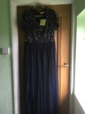 Maya Sequin Floor Length Dress Size 16 With Tags