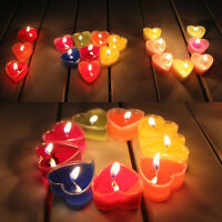 9 Pcs Heart Shaped Candles Scented Romantic Birthday Party Decoration Xmas Gift