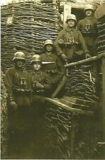 WW I German   Photo  ** Soldiers In The Trench  **