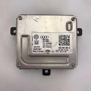 1X 4G0907697D Headlight LED Control Module Ballast for A4 S4 A5 S5 S6 S6 Q3 Q5