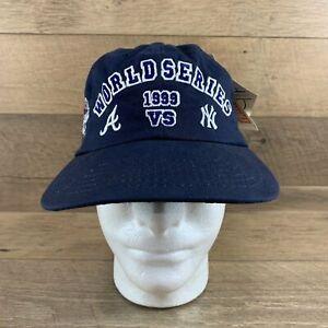 Vintage MLB World Series 1999 New York Yankees vs Atlanta Braves Navy Adjustable