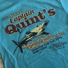 928c0d6ba4bb3a Captain Quint s Memorial Shark Fishing Tournament T Shirt JAWS Amity Island