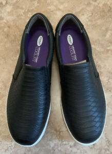 Dr Scholls Womens Madison Slip On Fashion Sneakers Size 10 WIDE Black New