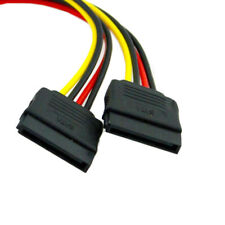 2 Female Splitter Y 1 to 2 extension Cable to SATA II hard disk Power Male