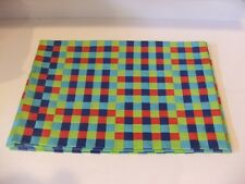 New Mainstays Woven Plastic Placemats Set Of 4 Red, Blue, Light Blue, & Green