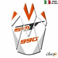 PARASERBATOIO ADESIVO RESINA BIANCO FOR KTM 990 Supermoto / T 2010-2016