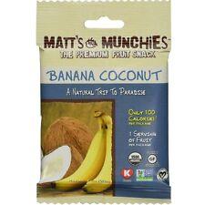 Matt's Munchies Organic Fruit Snack, 1 oz bags, Banana Coconut 12 bags