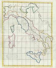 1823 Manuscript Map of Italy in Antiquity