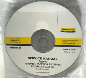 New Holland Service Manual CD 84208193-CD