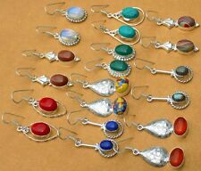 10PR WHOLESALE LOT FAMOUS 925 STERLING SILVER OVERLAY PRETTY EARRING