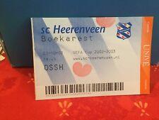 Football Ticket -  UEFA - Sc Heerenveen - Boekarest - 2002 UEFA CUP