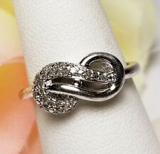infinity diamond ring 925 sterling silver rpomise ring love