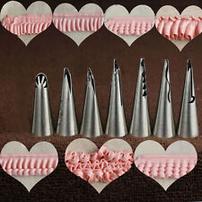 7x Russian Icing Piping Nozzles Pastry Cake Decor Tips Barbie Skirt Sugar Tools