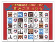 United Nations UN 20-Stamp Personalized Sheet MUH 2004 Hong Kong Expo Limited