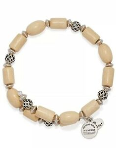Alex and Ani Blonde Wood Woodland Hush Wrap Silver Bracelet