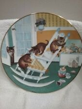 Rock and Rollers ~ Gre Gerardi Collector Plate, Country Kitties, Tabby Cats