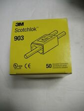 3M Scotchlok 903 Yellow Self Stripping Electrical Tap IDC Connectors Box of 50