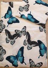 Dolls Pram/Cot Reversible Bedding Set Butterflies