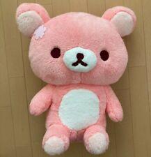 """Sakura Rilakkuma Plush Doll XL 16"""" Pink Premium Fuwa Fuwa Stuffed Toy Japan"""