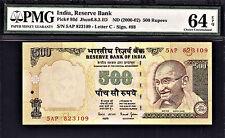 India 500 Rupees ND (2000-02) Bimal Jalan Letter C Pick-93d CH UNC PMG 64 EPQ