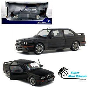 Solido 1:18 - 1990 BMW M3 E30 (Black) Diecast Model