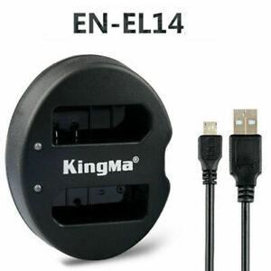 EN-EL14 Battery USB Dual-Battery Charger For Nikon D5200 D3200 D3100 D5100 D5300