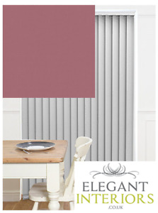 Bella Arcadia Textured Pink Blackout - Made To Measure Complete Vertical Blind