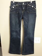 ROCK & REPUBLIC Womens Scorpion Jeans Flare Flap Pockets Size 31 Made in USA
