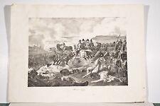 Gr. Litho originale XIX° Charles Motte Napoléon Bataille de Leipzig