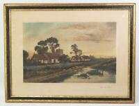 Antique Daniel Sherrin Lithograph Print After The Storm Framed