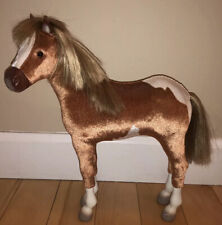 American Girl Doll PAINT FILLY HORSE Pinto Foal Baby Pony Flax Mane & Tail Spots
