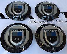 Asanti Wheels Caps In Black Cap #C-100 B New Style Set Of 4 Pcs Made By Asanti