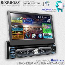Xrross Car DVD audio video radio player Android 6.0 GPS Navigation single Din
