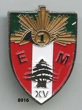 Insigne cavalerie, EM. / 1  Rgt. de Chasseurs  - LIBAN XV