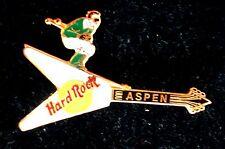 HRC Hard Rock Cafe Aspen White Flying V Guitar Skiing