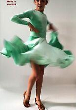 Ballroom Cha-cha samba rumba Latin Dance Dress Girls 5-12 NDCA  competition