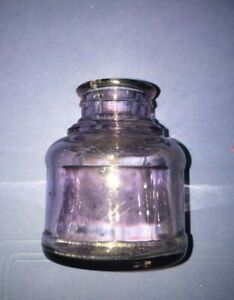 Vintage Watermans Inkwell Light Purple Clear Glass Embossed Letters Bottom 2 oz.