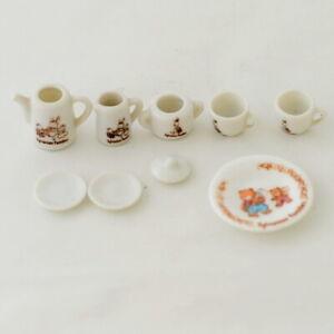 Sylvanian Families TEA SET & PICTURE PLATE Calico Critters Vintage