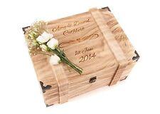 Personalised Engraved Wedding Wooden Keepsake Memory Chest