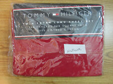TOMMY HILFIGER TWIN EXTRA LONG SHEET SET TH DENIM RED