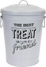 Metal Pet Food Bin Dog Food Cat Food Storage Bin Animal Pet Treat Bin Container