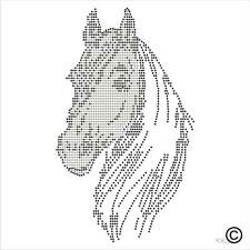 Iron On Applique HORSE EQUESTRIAN Rhinestone Diamante Motif Transfer Hotfix Gem